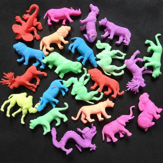 50g/lot Middle Size Wild Animal Style EVA Grow Up Swell Toy Inflate in water Children's Toy Aquarium Home Decoration