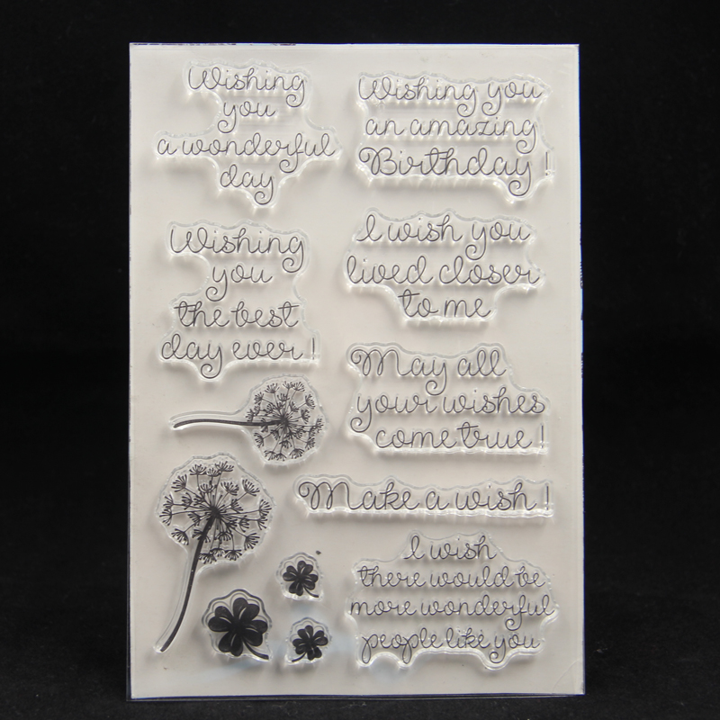 ZFPARTY Make A Wish Transparent Clear Silicone Stamp/Seal For DIY Scrapbooking/photo Album Decorative Card Making