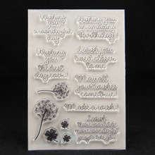 ZFPARTY Make a wish Transparent Klar Silikon Stempel/Dichtung für DIY scrapbooking/foto album Dekorative karte, der(China)