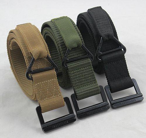 Black hawk metal buckle tactical belt casual all-match pants strap canvas belt