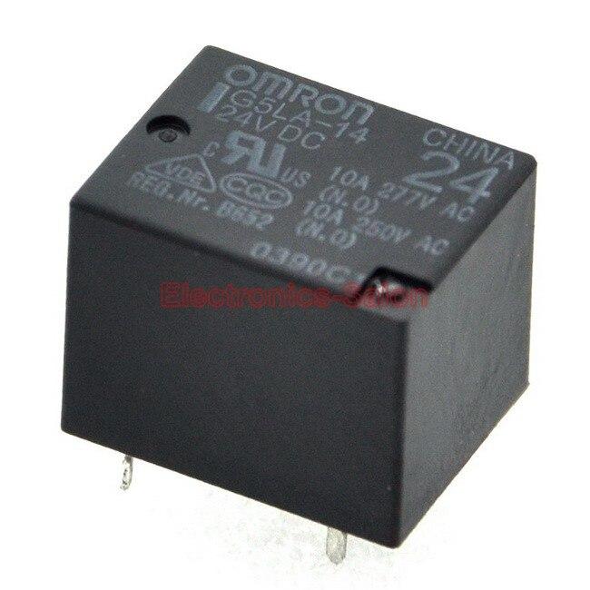 ( 2 Pcs/lot ) SPDT 10A Power Relay, G5LA-14 24VDC, PCB Mount.