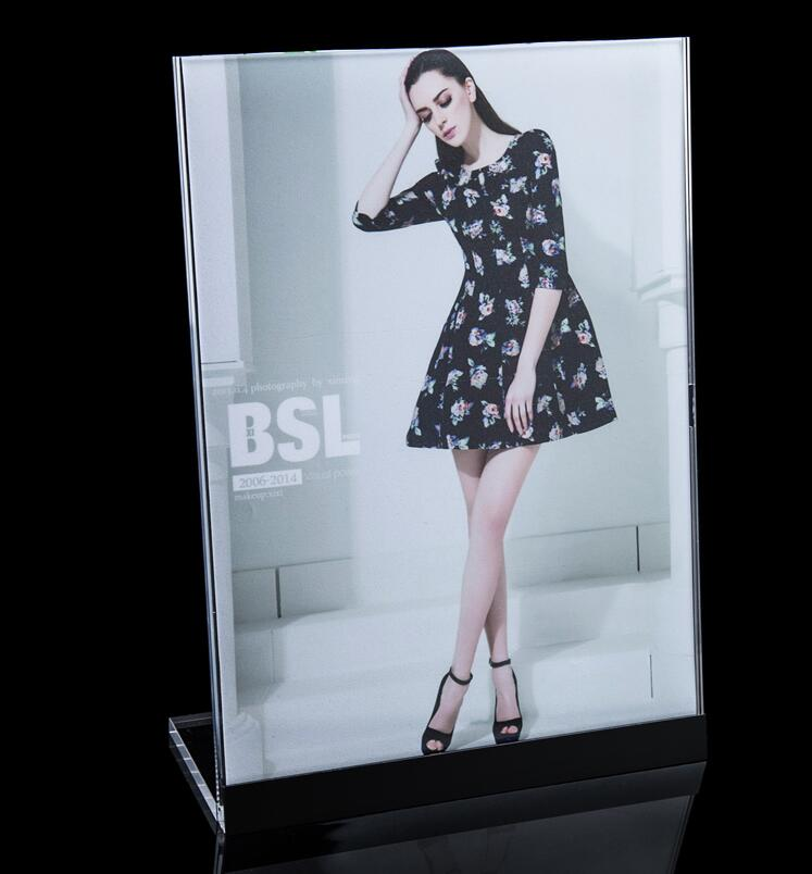 Photo Holder Poster Banner Price Tag Advertising Display Rack Tabletop Sign Stand Snap Frame Pop Table Desktop Table Sign Holder 49 golf ball display case cabinet holder rack w uv protection
