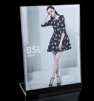 Photo Holder Poster Banner Price Tag Advertising Display Rack Tabletop Sign Stand Snap Frame Pop Table Desktop Table Sign Holder