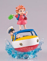 Anime Hayao Miyazaki Ponyo on the Cliff Ponyo Sosuke/Sousuke On Skiff Ghibli Studio Original Model Figure Toys