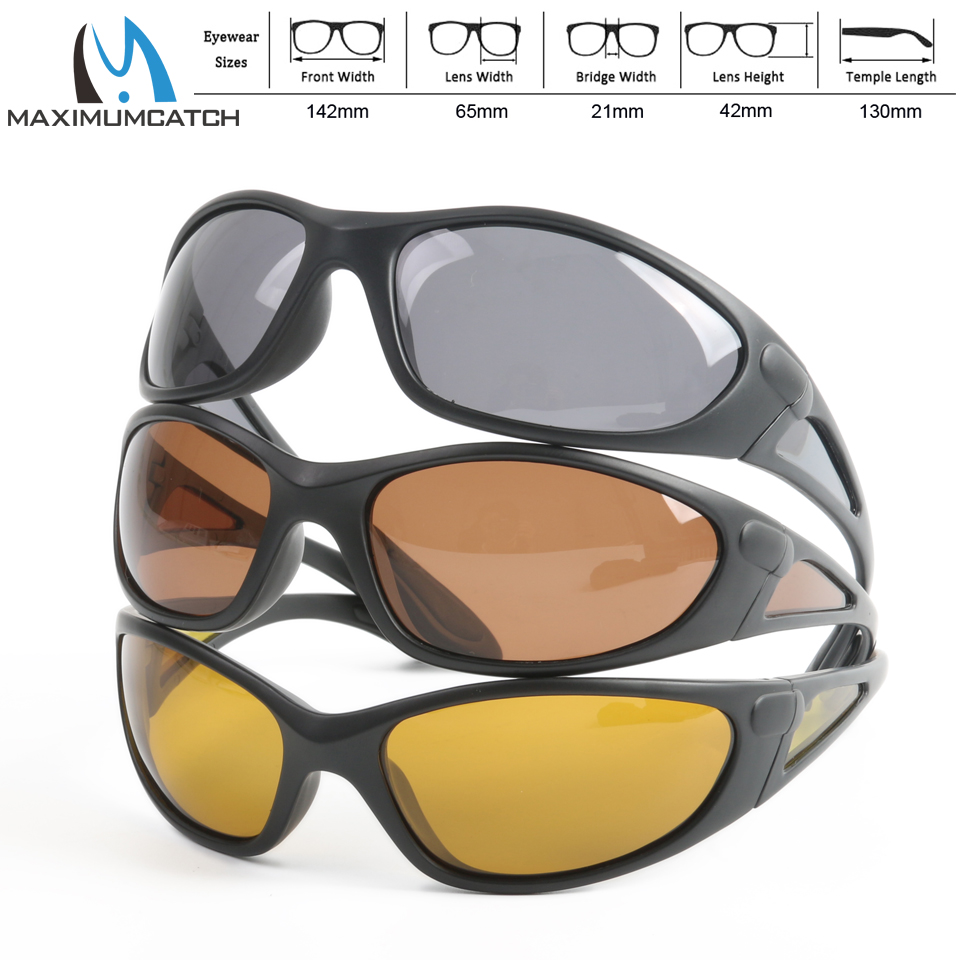 Maximumcatch Sport Sunglasses Brown Yellow And Grey Colors To Choose Fishing Sunglasses