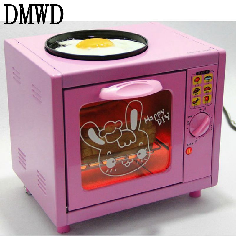 DMWD Multifunction Breakfast Maker 5L Mini electric bread baking pizza Oven eggs Frying Pan Household Cooker Cake Toaster Bakery dmwd mini toaster electric oven multifunction timer making biscuits bread cake pizza cookies baking machine 12l liter 900w eu us page 3