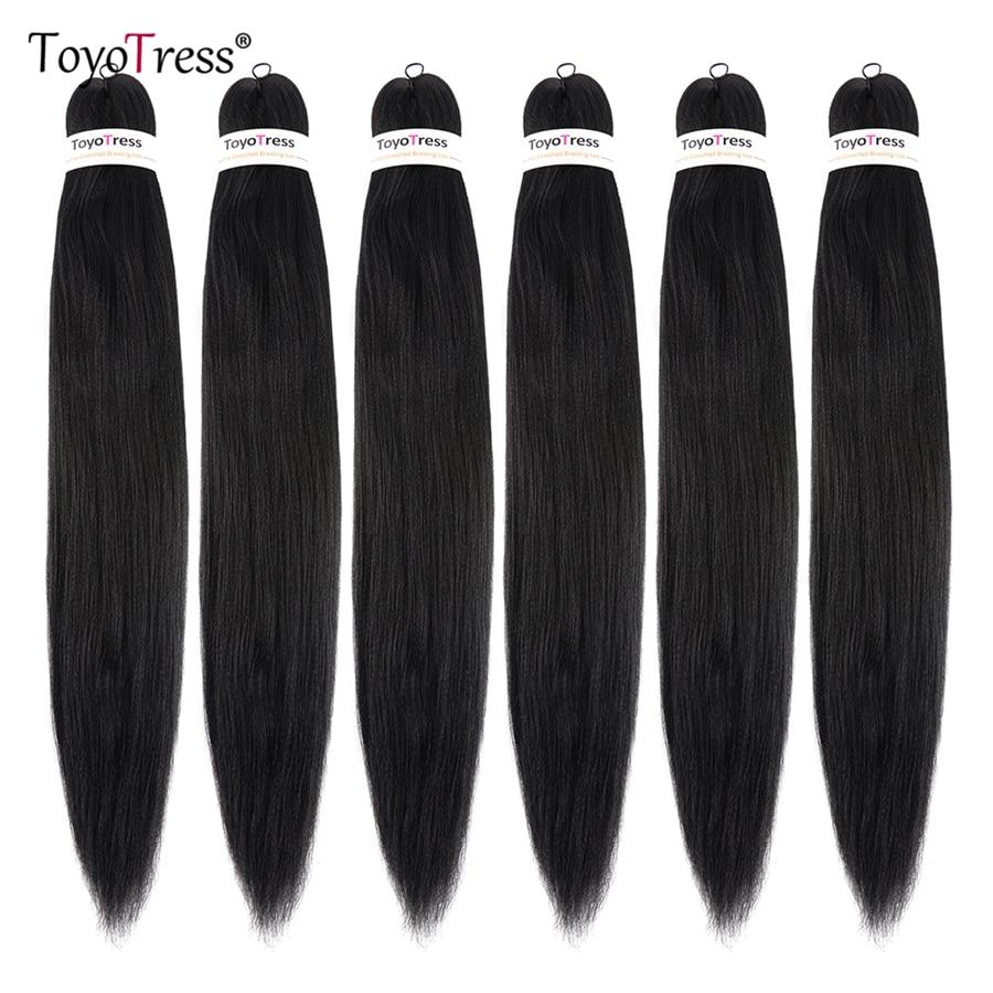 Pre Stretched Ez Braid Hair Synthetic Hair For Braid Crochet Box Braid Hair Extensions 16-30inch Ombre Braiding Hair