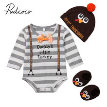 f6d418506a9 2018 Brand New Infant Baby Boys Girls Thanksgiving Clothes 3PCS Bodysuit  Romper+ Hat+Socks Clothes Cute Turkey Outfit Set 0-18M