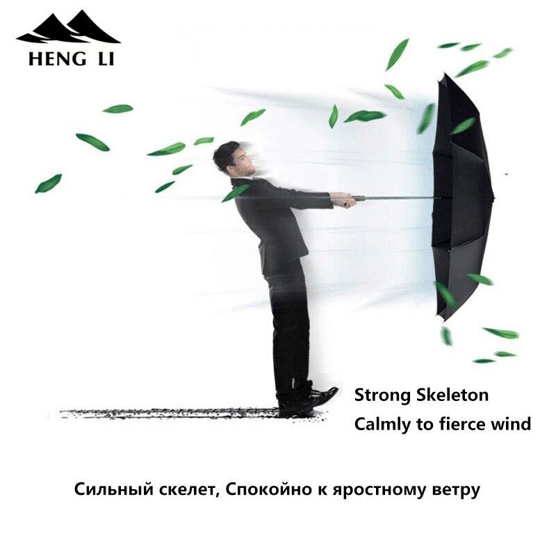 125 cm Coupe-Vent Automatique Parapluie Pour Hommes Marque Grand Pliage Parapluie Pluie Femme Double De Golf D'affaires Automatique Voiture Parapluies