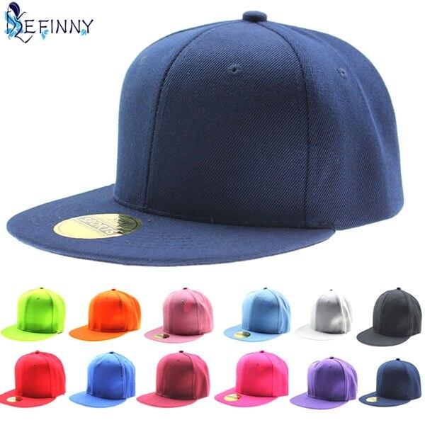 EFINNY Adjustable Men Women Baseball Cap Solid Hip-Hop Snapback Flat Hat Visor fashion floral flower snapback hip hop hat flat peaked adjustable baseball cap