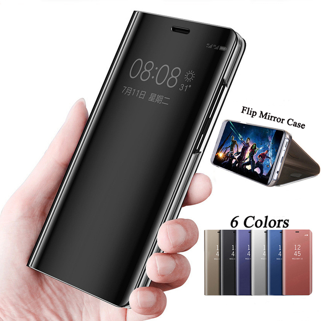 detailed look 03c23 06d1f US $6.74 25% OFF|For Huawei Honor 9 Lite Case For Huawei P Smart Cover  Smart Mirror Clear View Stand Cover Mate 9 Pro Mate 10 Lite P9 Plus P 20-in  ...