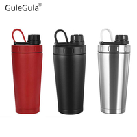 500ml/20OZ High Quality Sports Protein Shaker Bottle for Water Bottles Kids Bidon Stainless Steel Vacuum Flask Thermos