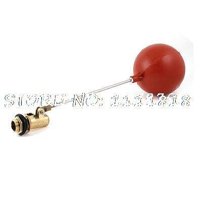 1/2PT Male Thread Sensor Plastic Float Floating Ball Valve 4Diameter 1 2 pt male thread to 12mm hose barb plastic cover lever ball valve brass tone discount 50
