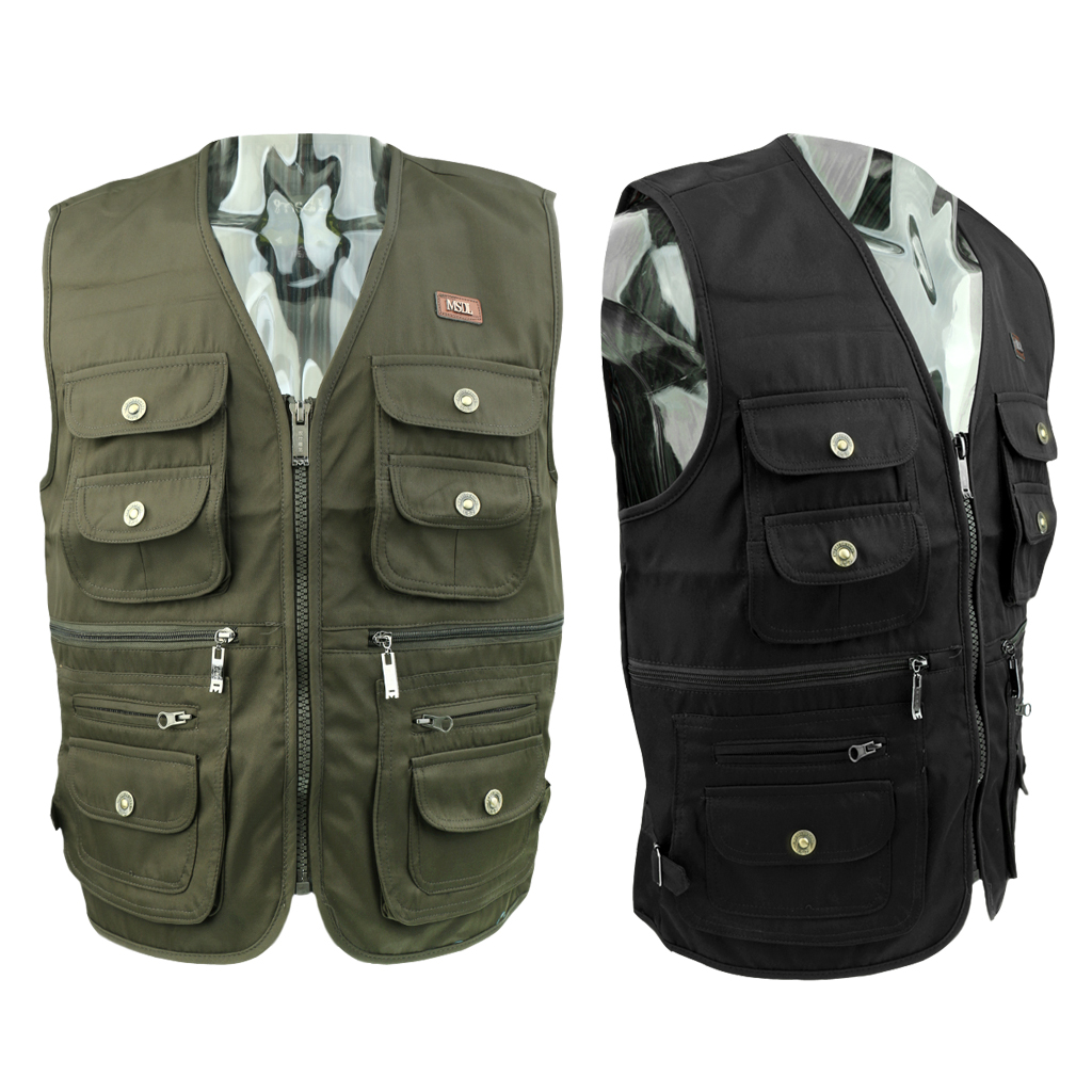 Outdoor Quick-Dry Fishing Vest Multi Pockets Vest Fishing Hunting Waistcoat Travel Photography Jackets Outdoor Clothing For Men