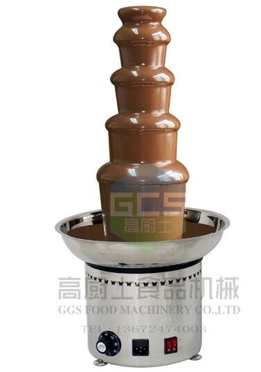 Free Shipping cost 5 tiers Commercial chocolate fountain machine with CE 680Mm