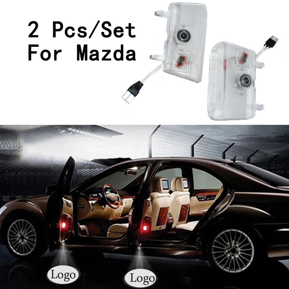 6W 12V Ghost Shadow Projetor Step Door Courtesy Laser 2Pcs/Set LED Courtesy Only For Mazda/Atenza Lens Include With Logo