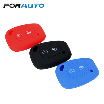 FORAUTO Car Key Cover Case Key Shell For Renault Trafic Master Kangoo 2 Buttons Auto Accessories Silicone image