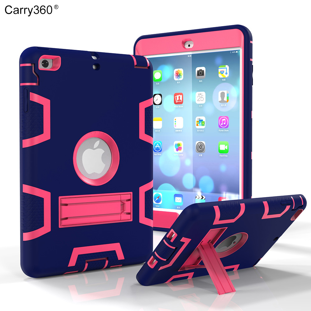 Carry360 Heavy Duty Shockproof Hybrid Rubber Rugged Hard Impact Protective Skin Case For iPad Mini/iPad Mini2/Mini3 Case szegychx tablet case for ipad mini 123 eva heavy duty shockproof hybrid rubber rugged hard protective skin cover case pen
