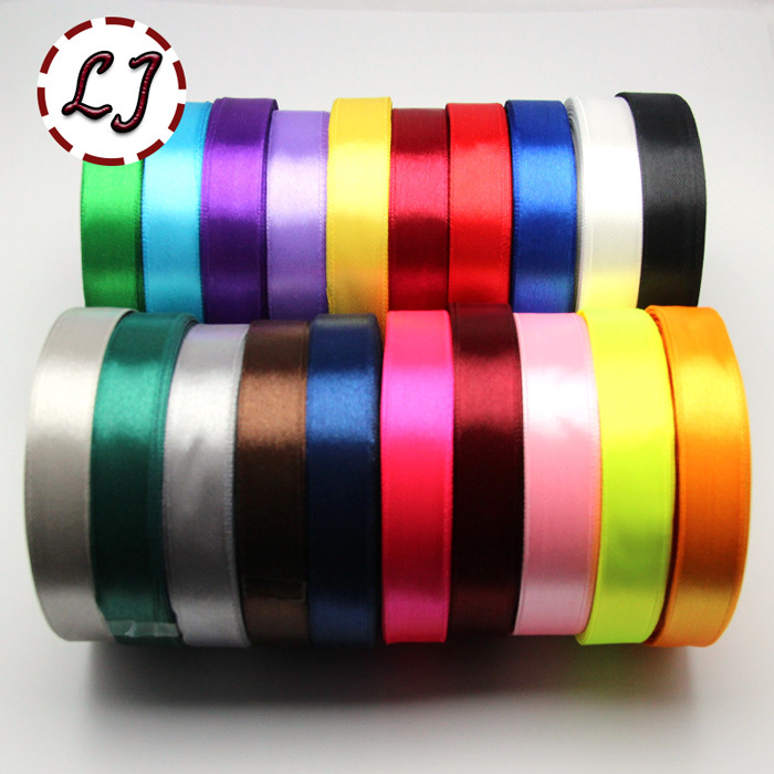 Brand Satin Ribbon 15mm 0 6in 25Yards Wedding Silk Ribbon Party Decoration Satin Tapes Crafts Invitation