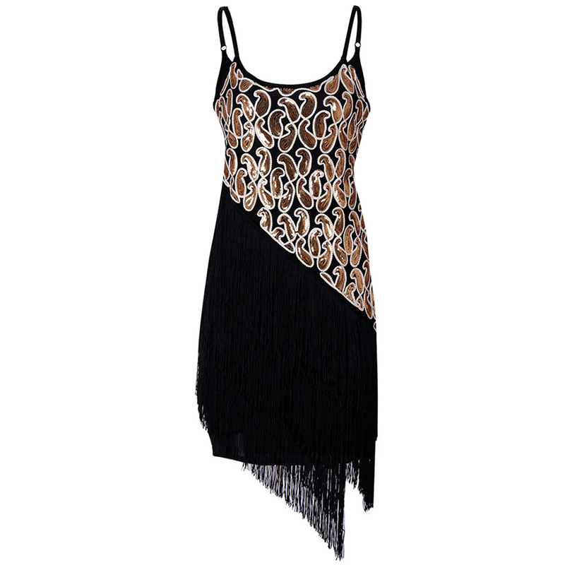 New Summer Vintage Fringe Dresses Women Sequins Hand knit Ball Sling Dresses Sexy Women's Irregular Dresses Mini Vestidos F371