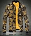 Станция европа ретро дворец печать пиджак осеннее пальто тонкий срез приток мужчин импортные высококачественные бархатная куртка для мужчин