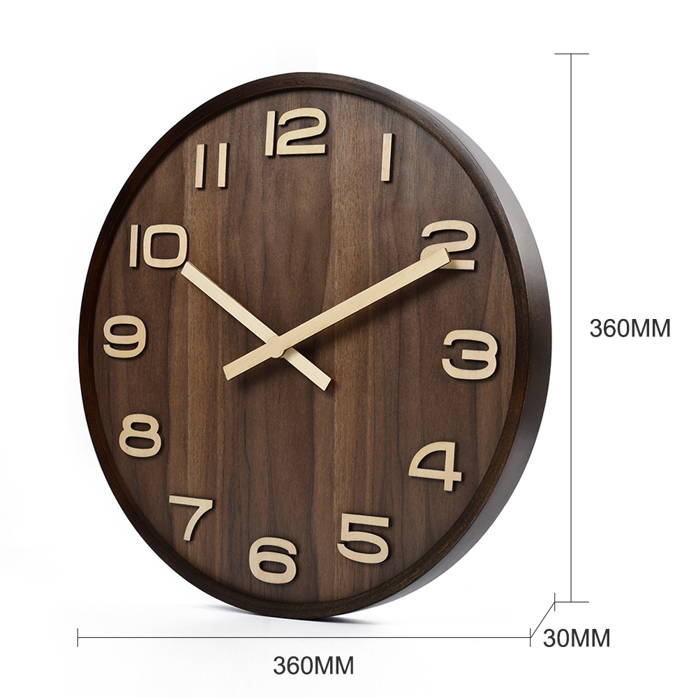 Aliexpress buy large size big 14 inch wood wooden wall aliexpress buy large size big 14 inch wood wooden wall clocks for home office decor simple design watch wall clock no glass from reliable designer amipublicfo Images