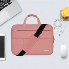 New Shoulder Laptop Bags for Macbook Air Pro 13 Case  Women Men Waterproof Air Pro 15 Cases for Mac book 12 inch Laptop Pouch