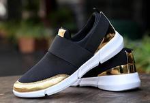 2017 frühling Frauen Kausalen Schuhe Weibliche Plattform Schuhe Slipony Frauen Krasovki Tenis Feminino Damen Schuhe Silber Gold 35–40