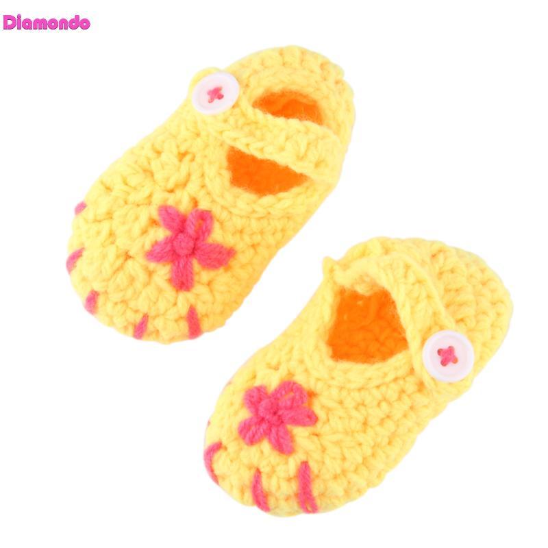 New Handmade Newborn First Walkers Infant Baby Boys Girls Crochet Knitted Shoes Cute Toddlers Indoor Floor Baby Prewalker 0-12M