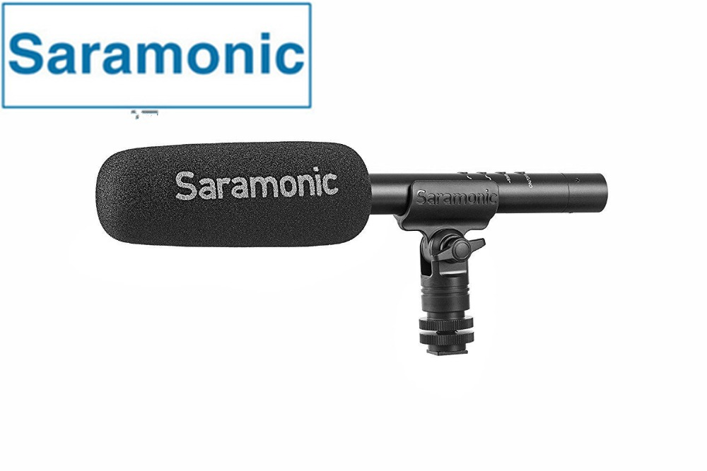 Saramonic SR TM1 super Cardioid Broadcast Shot/gun Condenser Microphone for Canon Nikon camera DSLR