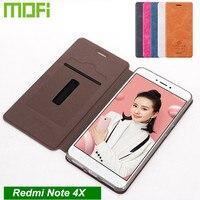 Original Mofi Xiaomi Redmi Note 4X Case Flip Cover PU Leather Case For Redmi Note 4X