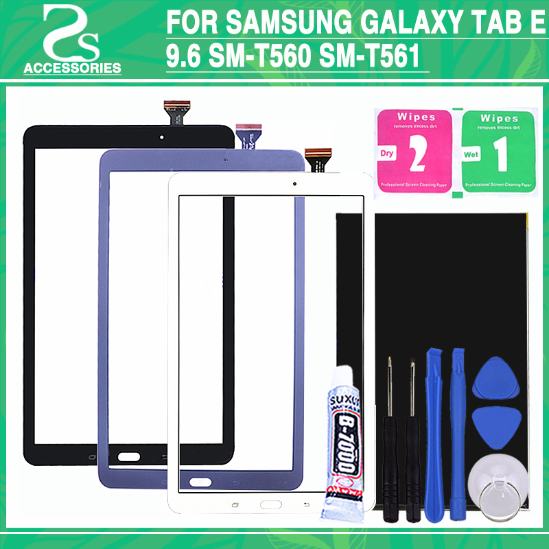 New t560 LCD Touch Screen For Samsung Galaxy Tab E 9.6 SM-T560 SM-T561 T560 T561 Display Digitizer Touch Sensor Glass Panel touch screen digitizer glass for samsung galaxy tab e 9 6 sm t560 t560 t561 free shipping 100% tested