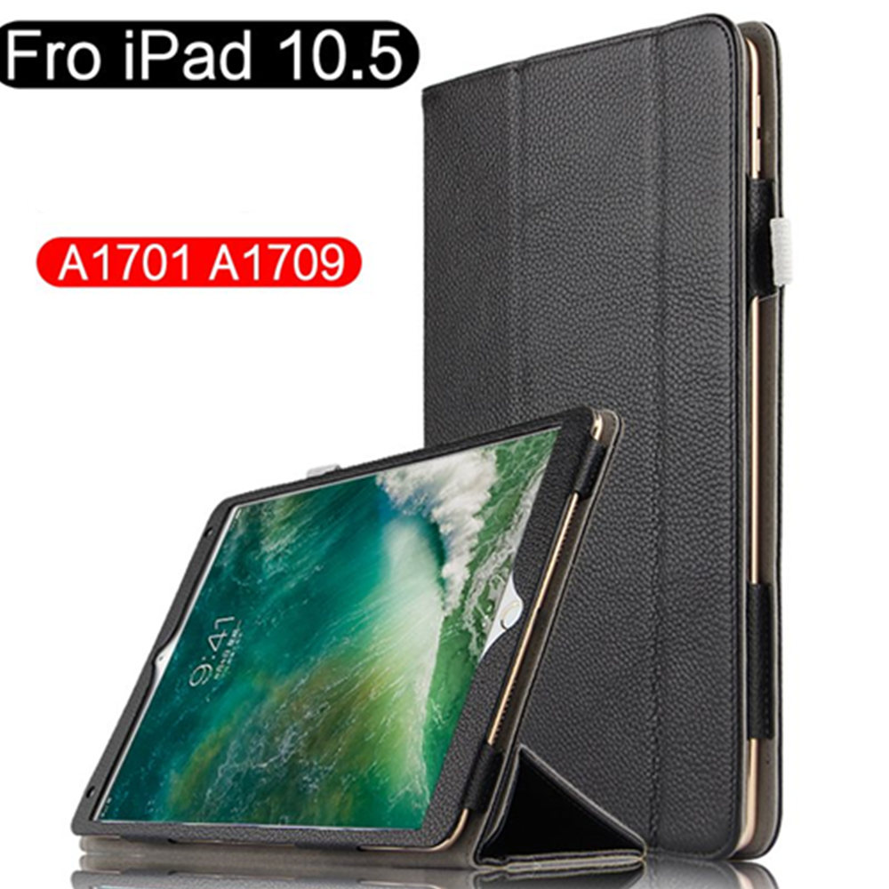 Case Cover Fundas Genuine Leather Slim Protective Stand Cases For Apple iPad Pro 10.5 inch A1701 A1709 Tablet Book Cover tablet cover for ipad pro 10 5 inch detachable bluetooth keyboard case for 2017 ipad 10 5 a1701 a1709 stand cases