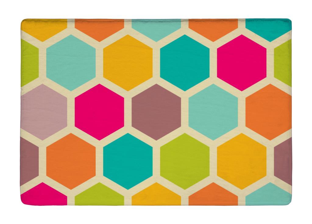 Floor Mat Retro Geometric Hexagon NestSeamless Print Non Slip Rugs Carpets  Alfombra For Indoor Outdoor