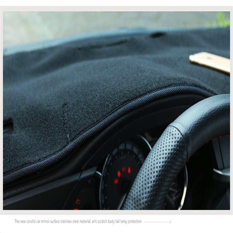 CAR Dashboard Dash Mat Non-Slip Sun Cover Pad For Toyota Corolla 2014-2018 Custom Fit Interior Accessories
