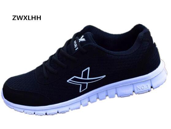 Zwxlhh Новая мужская повседневная обувь осень 2017, удобные туфли из дышащего сетчатого материала размер 36-46
