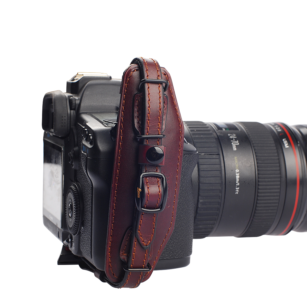Camera Ge Dslr Camera aliexpress com buy genuine leather brown camera hand wrist strap for sony canon nikon samsung panasonic ge dslr quick