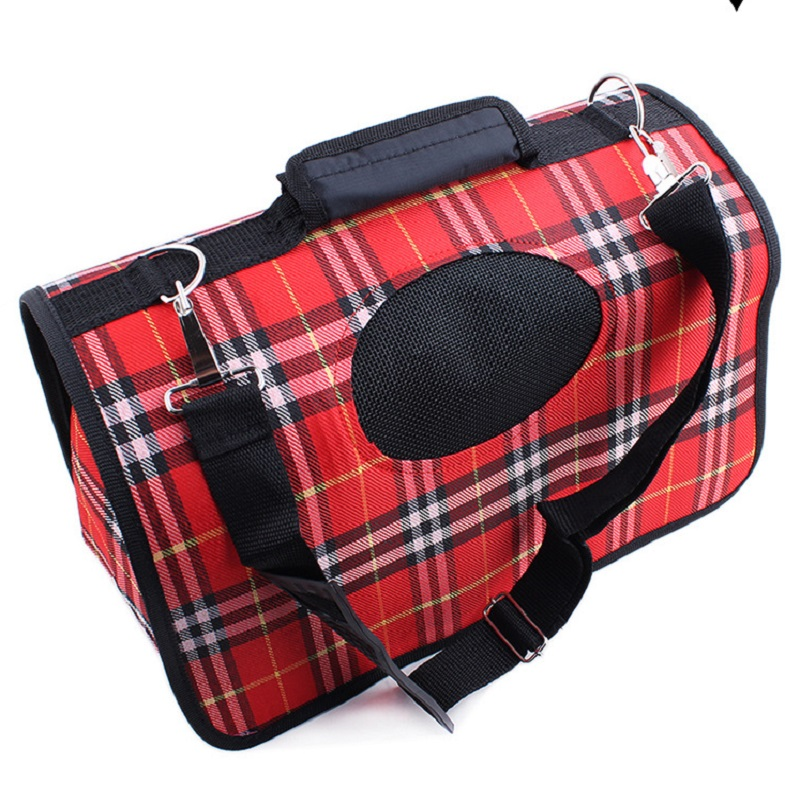 New hot Nylon square portable Cat transport bag for small dogs Soft Folding travel bag carrier for Dogs goods for animals