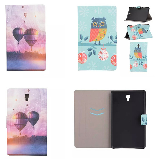 XX  For samsung Galaxy SM-T700 T705 Stand cover Cute Painting PU leather cases for Galaxy tab S 8.4 inch T700 T705C tablet PC