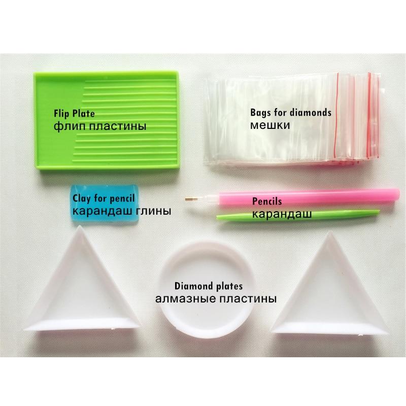 Pink Lotus Алмаз кескіндеме кескіндеме - Өнер, қолөнер және тігін - фото 5