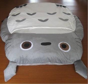 1 8 #215 2 5m ogromny rozmiar projekt europejski śliczne miękkie łóżko Totoro łóżko sypialniane śpiwór Sofa 100 bawełna Hot w japonii i kanadzie tanie i dobre opinie MANDONGKUN Nowoczesne inny 1 7x2 2m COTTON Japanese ROUND Totoro Bed ZM-BED-AAAAA+ Łóżko do domu meble do domu Guangdong