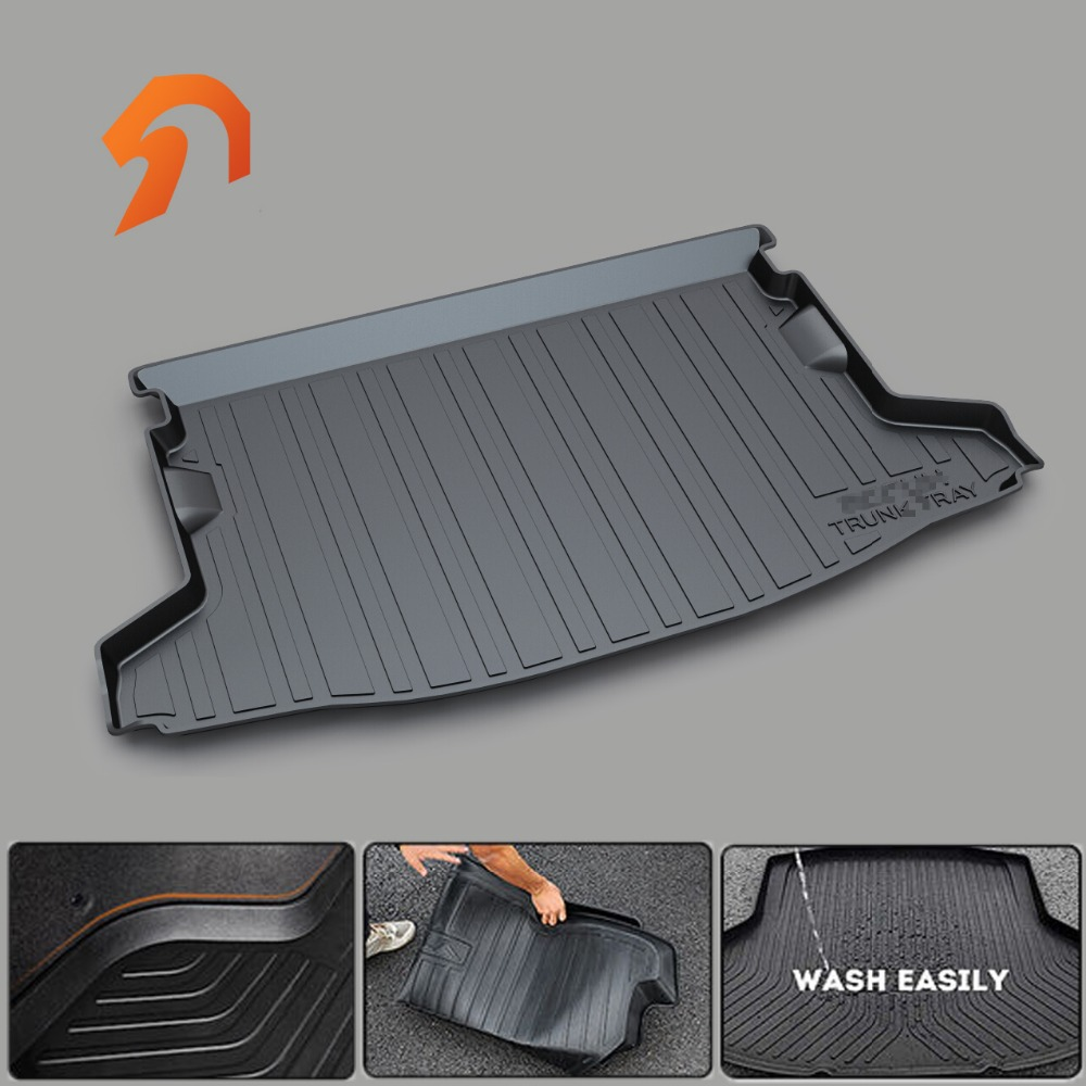 Non-Slip Waterproof 3D FOR SUBARU XV Legacy Forester OUTBACK BOOT LINER REAR TRUNK CARGO MAT FLOOR TRAY CARPET COVER PROTECTOR for honda crv cr v 2017 2018 auto trunk liner rear cargo boot mat 3d floor tray carpet mud pad waterproof protector car styling