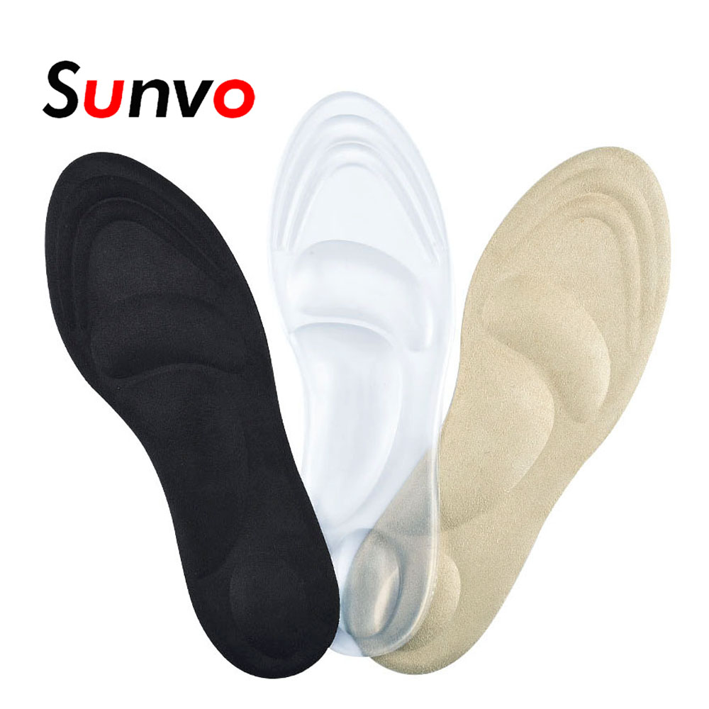 Sunvo 3D Silicone Gel Orthotic Insoles for Flat Feet Arch Support Massage Plantillas Fascitis Shoes Pad Foot Pain Relief Insole 2 pairs flat feet orthotic arch support gel pads non slip pain relief shoes insoles