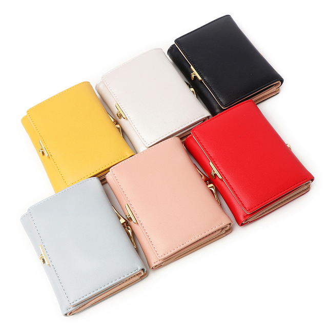 Designer Women Purse Trifold Pu Leather Laides Wallet 5