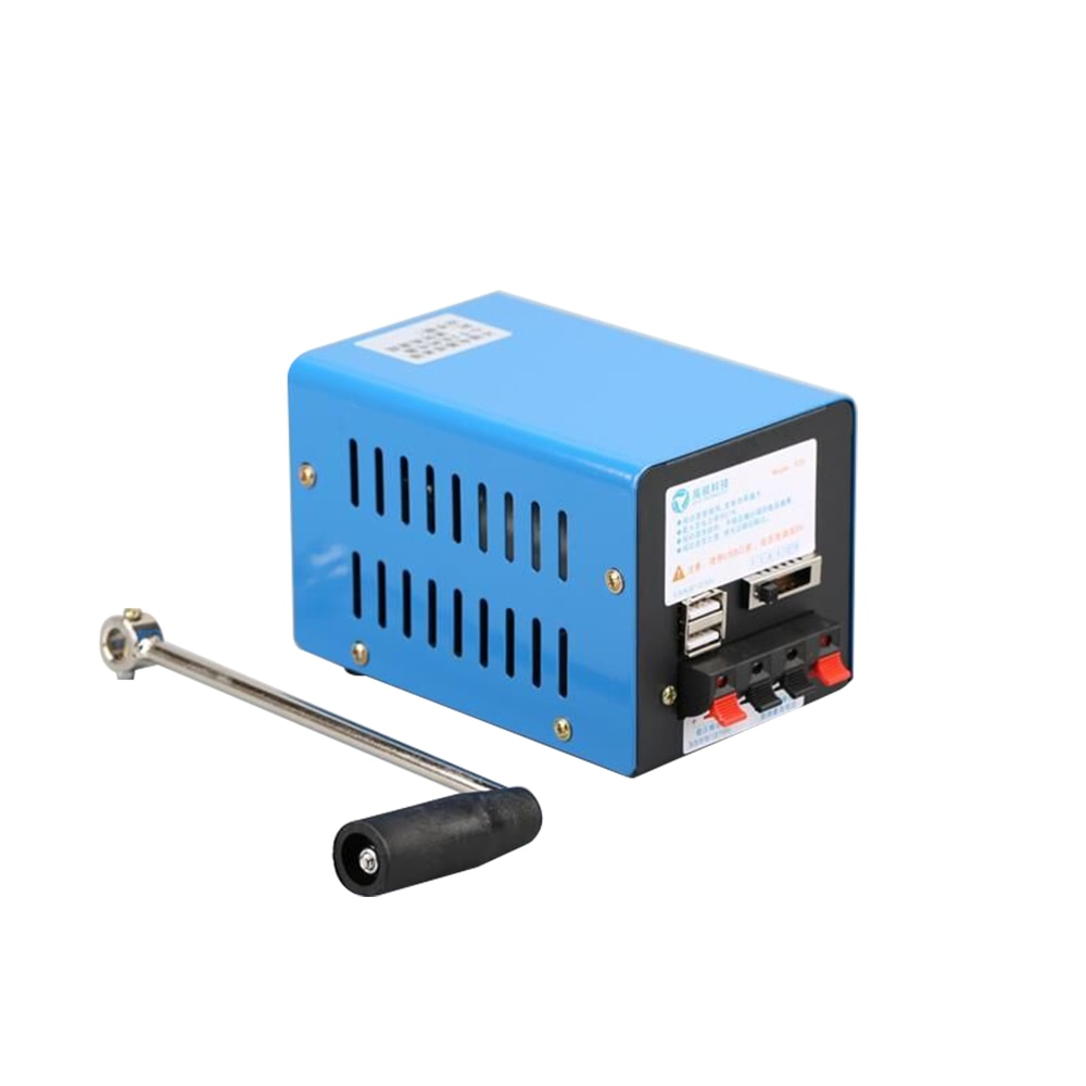 20W Multi-function Portable Manual Crank Generator Outdoor Emergency Hand Crank Powerful Survival Power Supply Camping Kit