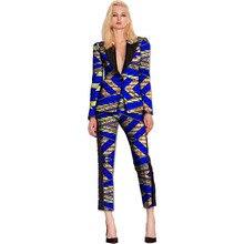 African print women blazer and Cropped Trousers sets ladies patchwork Ankara suit jacket+pant set ladies dashiki clothes