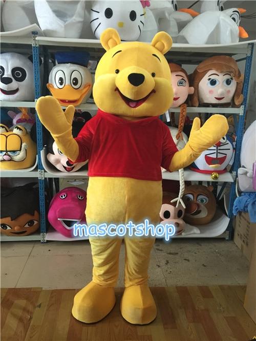 Винни медведь костюм талисмана Косплэй Хэллоуин Необычные Вечерние Платье