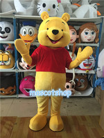 Winnie Bear mascot costume Cosplay Halloween Fancy Party Dress