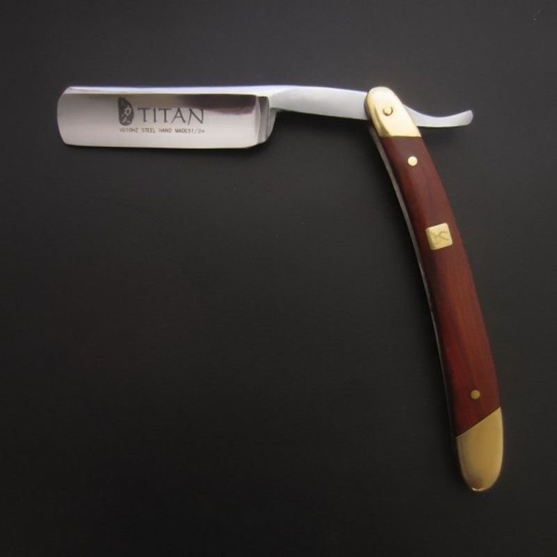 Free Shipping  Wooden Handle Mes's Shaving Razor Straight Blade