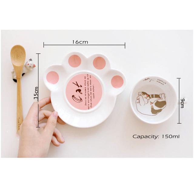 150ml Cute cat cartoon Mug Set